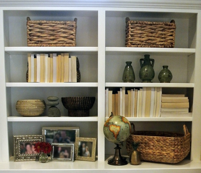 the redesign company | bookshelves and baskets