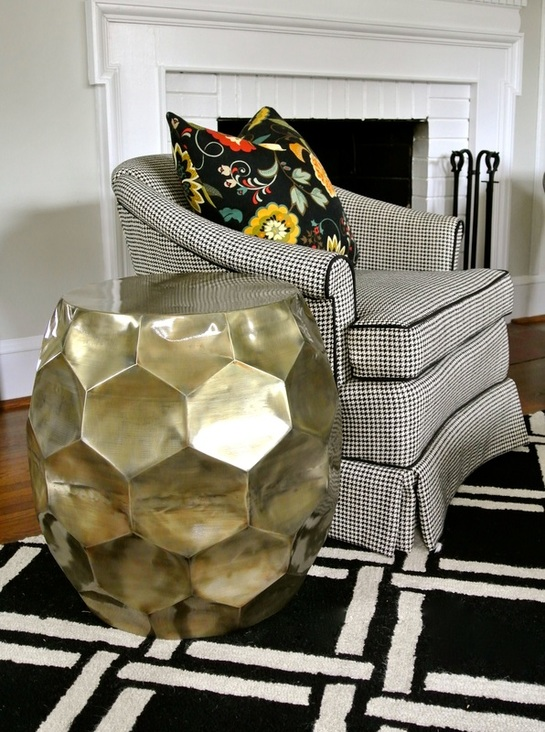 the redesign company gold end table